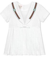gucci white stretch-cotton dress