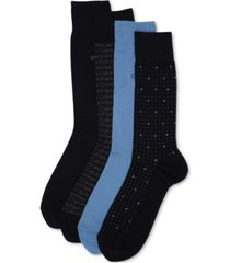 calvin klein men's 4-pack logo dress socks