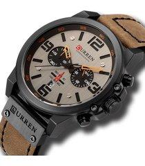 reloj deportivo hombre cronografo curren 8314 negro marron