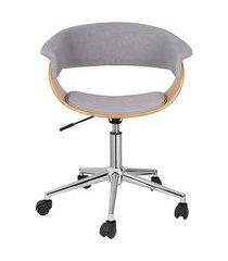 cadeira de escritório diretor giratória justine cinza