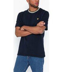 lyle & scott multi rib t-shirt t-shirts & linnen navy