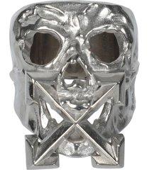 silver-tone punk ring
