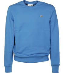 lacoste ribbed logo sweatshirt