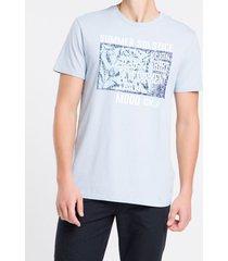 camiseta mc regular silk meia reat gc - azul claro - pp