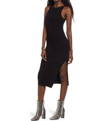 women's leith rib sleeveless midi dress, size x-large - black