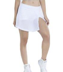 falda shorts tenista white bro fitwear