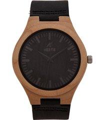 reloj madera negro nerfis