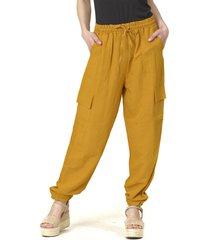 pantalón bombacho liso italiano amarillo bous