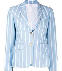 thom browne vertical-stripe sports blazer - blue