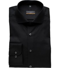 eterna overhemd zwart slim fit strijkvrij