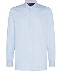 tommy hilfiger overhemd licht blauw stretch mw0mw15007/c1s