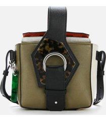 ganni women's colour block bucket bag - multicolour