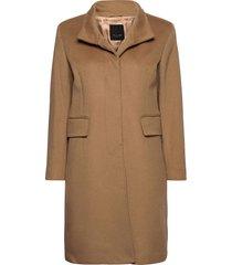 cashmere coat w - parker 3 wollen jas lange jas beige sand