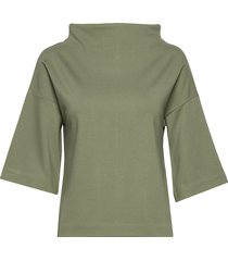 fay top t-shirts & tops long-sleeved groen residus