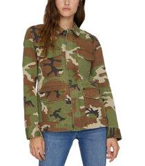 sanctuary salute camo-print jacket