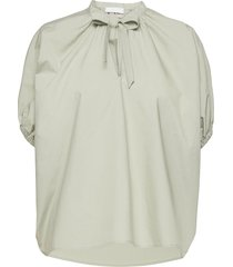 2nd ray thinktwice blouses short-sleeved groen 2ndday