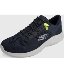 tenis training azul-gris skechers ultra flex 2.0 - kerlem