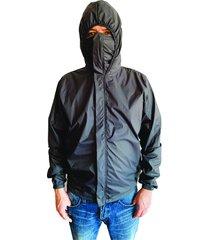 chaqueta proteccion covid 19 hombre gris oscuro anti fluido