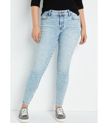 maurices womens jeans vintage high rise jegging blue denim