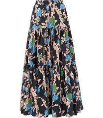 big skirt floral-print cotton-poplin maxi skirt