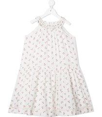 bonpoint cherry-print cotton dress - white