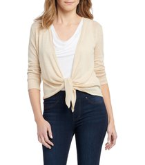 women's nic+zoe gleaming 4-way convertible cardigan, size xx-large - metallic