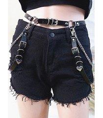 chain strap pendant heart waist belt