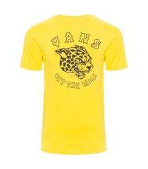 camiseta masculina gnarcat - amarelo