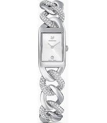 orologio cocktail, bracciale di metallo, tono argentato, acciaio inossidabile