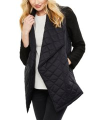 jack by bb dakota maternity open-front quilted jacket