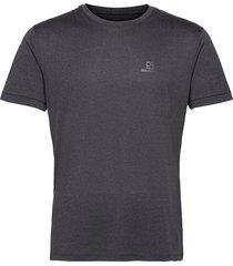 explore tee m black/ebony/heather t-shirts short-sleeved svart salomon
