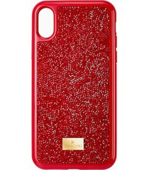 custodia per smartphone glam rock, iphoneâ® x/xs, rosso