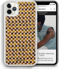 iphone 12 12 pro case in tortoise checker