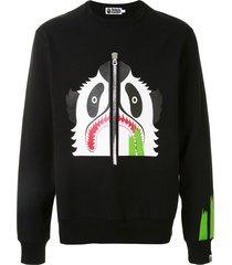 a bathing ape® panda pan print sweatshirt - black
