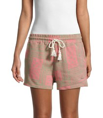 eleven paris women's artmakers shorts - almond multi - size s