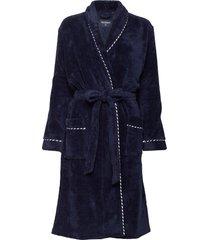 bath robe ochtendjas blauw schiesser