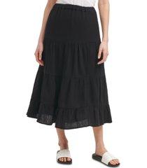 calvin klein cotton pull-on maxi skirt