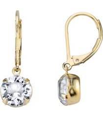 2028 14k gold-dipped genuine swarovski crystal drop earrings