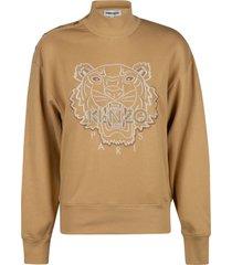 kenzo high neck tiger sweatshirt