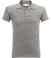 orlebar brown felix navy melange polo shirt 250488