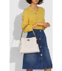 coach women's colorblock willow shoulder bag - chalk multi