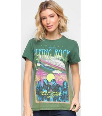 camiseta colcci básica filing rock feminina - feminino