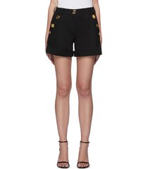 button pocket tailored shorts
