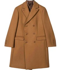 fendi camel coat