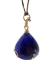velvet blue sapphire pendant necklace