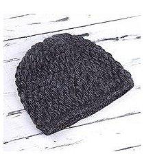 100% alpaca hat, 'smoky enchantment' (peru)
