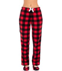 sporto women's pajama pant & slipper 2pc set