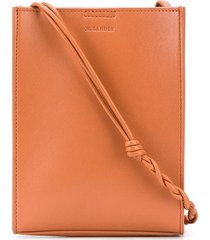 jil sander braided strap crossbody bag - brown