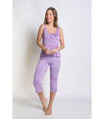 pijama acuo manga curta roxo