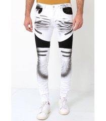 true rise te biker jeans slim fit broek